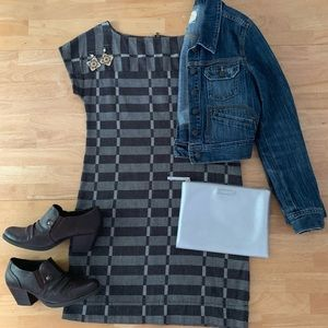 Lou & Grey checkered tunic shift dress